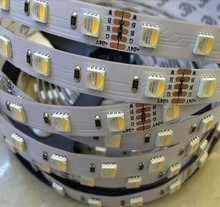 New 2016 arrival RGBW LED strip waterproof  12V 24V 5050smd 60LED/m 5m/Roll RGBW LED strip light free shipping