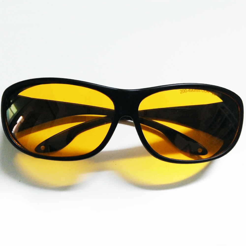 laser safety glasses for 190-490nm O.D 4+ CE certified with style 9<br>