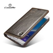 For Samsung Galaxy Note 5 Case Flip Wallet Leather Cover Luxury Full Phone Protective Black Brown Cases for Samsung Note 5 Coque