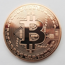 Good Price Bitcoin BTC Medal Copper Plated Steel Core Copy Coin Souvenir Metal Craft Coins Dia 40mm