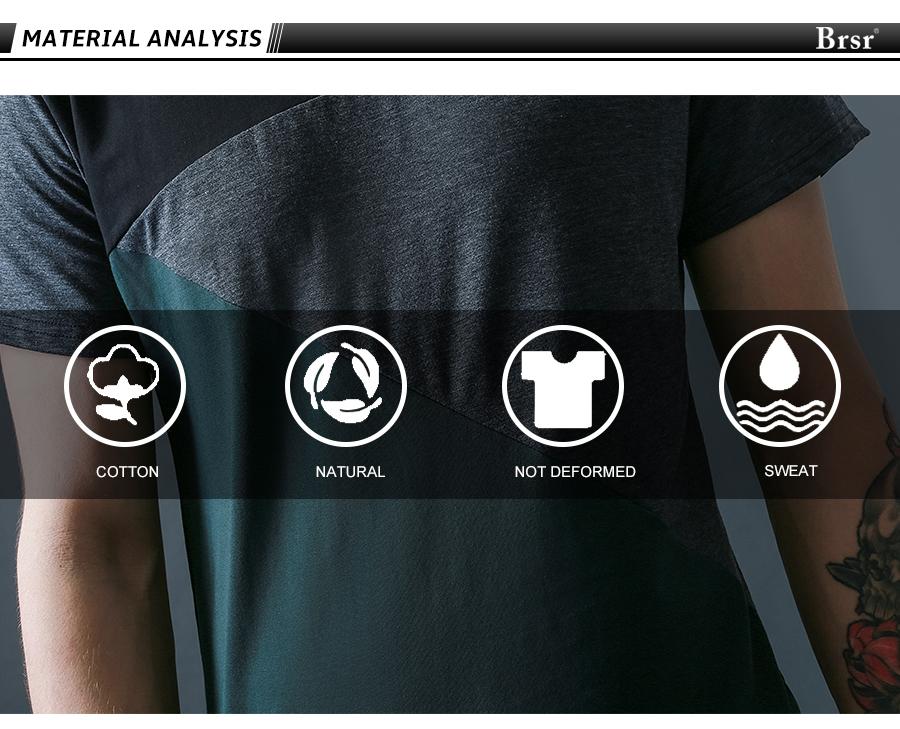 6 Designs Mens T Shirt Slim Fit Crew Neck T-shirt Men Short Sleeve Shirt Casual tshirt Tee Tops Mens Short Shirt Size M-5XL 2