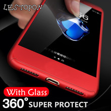Luxury Protect Phone Cover For Huawei P10 Lite case 360 Degree Full Body Cover for huawei p9 p8 lite 2017 p10 plus With Glass(China)