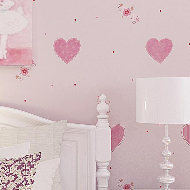 Free Shipping Childrens Room Wallpaper Love Bedroom 3d Three-dimensional Boy Girl Background 5.3m2<br><br>Aliexpress