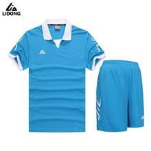 LIDONG 2017 New Kids Football Kits Boys Soccer Sets Sports Uniforms Futbol Training Suits Polyester Short Sleeved Jerseys 5001