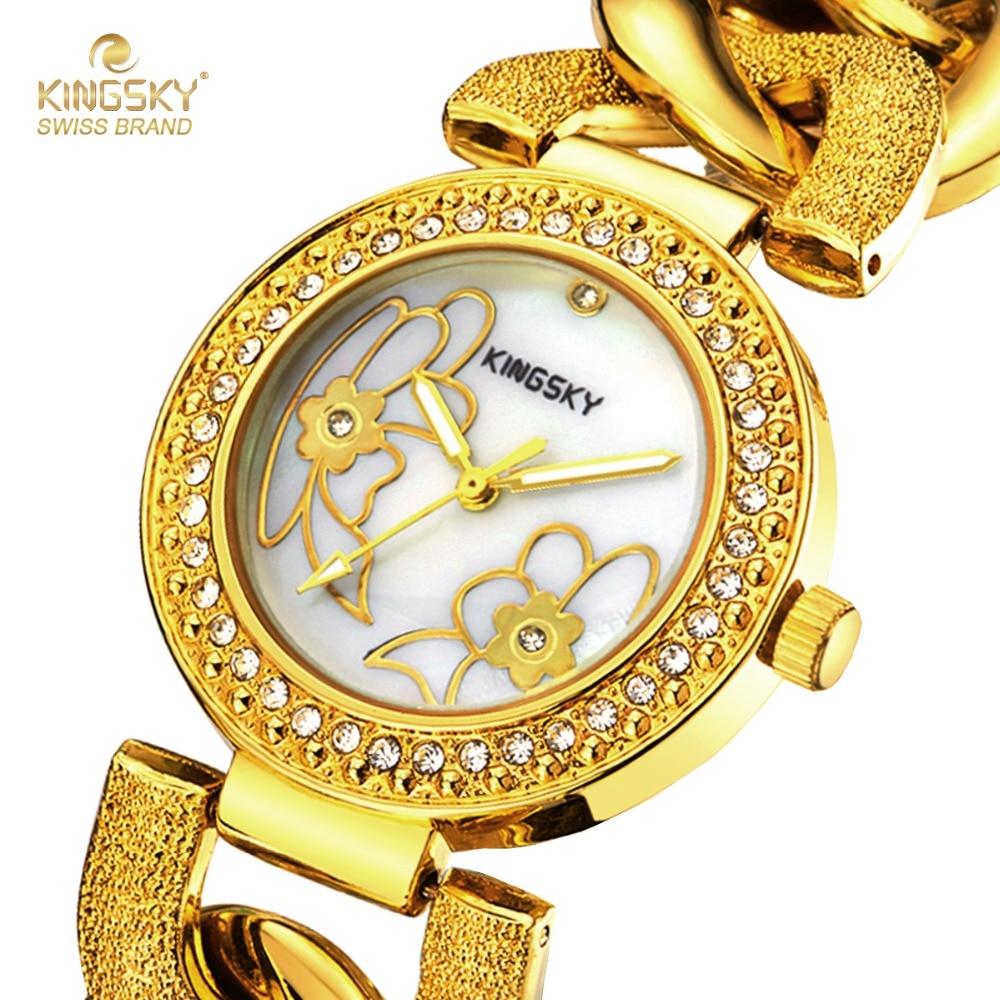 2017 Women Watches Brand Luxury Wristwatch Kingsky Female Clock Wrist Watch Lady Quartz-watch Montre Femme Relogio Feminino<br><br>Aliexpress