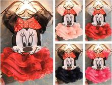 2014 New Baby Girls Clothing Sets Girls Summer Minnie Mouse Clothing Set T shirts + Skirt Children 2pcs Suit Set Baby Clothes