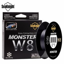 SeaKnight MONSTER W8 8 Strands 500M Braided Fishing Line Wide Angle Technology PE Braided Wire 15LB 0.14mm Sea Carp Fishing Line(China)