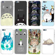 356GH Totoro Anime Hard Transparent Painted Cover for iphone 4 4s 5 5s se 6 6s 8 plus 7 7 Plus X