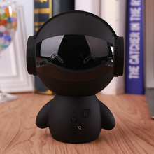 2017 Newest Cute portable Robot Bluetooth Speaker Stereo Handsfree Noise Cancelling AUX TF MP3 Music Player Cell phone Call(China)