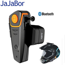 JaJaBor Motorcycle Helmet  Intercom 100 Meter Bluetooth Headset Hands Free Wired and Wireless Waterproof FM Music Headphones GPS