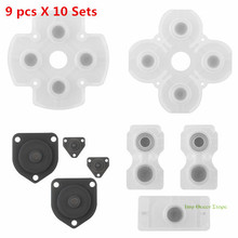 10 sets Soft Rubber Replacement Silicone Conductive Adhesive Button Pad keypads for Sony PS4 PlayStation DualShock 4 Controller