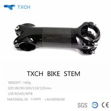 Txch ud Aluminum Alloy & Carbon Bicycle Stem Road Bike MTB Stem / Carbon Stem 31.8 *80/90/100/110/120mm  free shipping