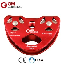 25KN/5600lbs Zip Line Cable Trolley Pulley CE / UIAA Aluminum Climbing Rope Pulley For Rocking Caving Outdoor Rescue Arborist