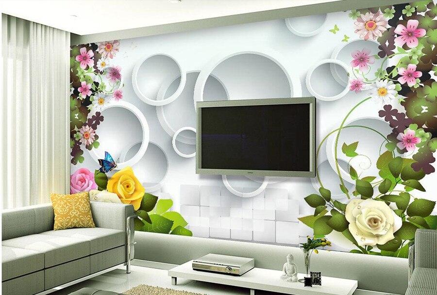 Vogue beautiful rose flower 3D wallpaper papel de parede, living room sofa TV wall bedroom wall papers home decor large murals<br>