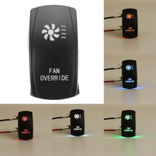 5 Pin Car FAN OVERRIDE Switches Laser Backlit Rocker Toggle Switch 20A 12V On/off LED Light for Polaris Ranger 900 800 RZR