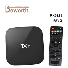 TX2 Android 4.4 TV Box 1GB DDR3 8GB Flash Rockchip RK3229 2.4G Wifi IPTV Kodi 16.1 Media Player Smart Set Top Box H.265 4K DLNA