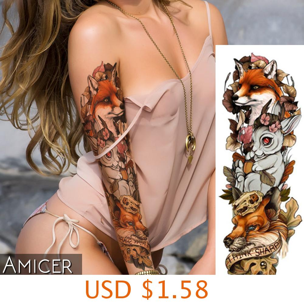 sexy romantic dark rose flowers flash fenna tattoos fake Waterproof temporary tattoos stickers body art Tattoo sleeve 5