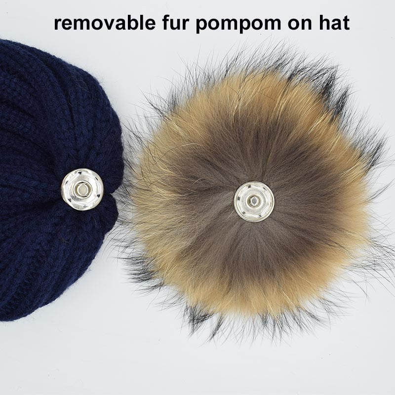 fur pompom on hat