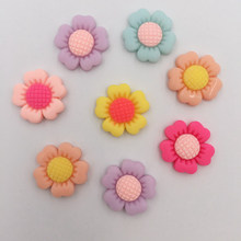 Buy DIY 20Pcs 20mm Resin Hand Painting Sunflower Flatback Stone/Children Scrapbook Craft K73 for $1.98 in AliExpress store