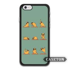 Pug Doing Yoga Funny Cute Protective Case For iPhone 7 6 6s Plus 5 5s SE 5c 4 4s and For iPod 5