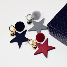 Fashionable personality hair bulb stud earrings girls clubs Europe style exaggerated big five-pointed star earrings wholesale
