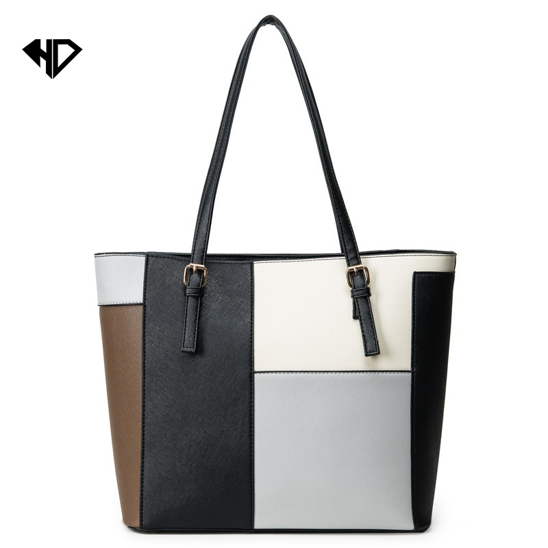 woman bags 2017 bag handbag fashion handbags High quality Large Capacity Splice Shoulder Bags Handbags European &amp; American Style<br><br>Aliexpress