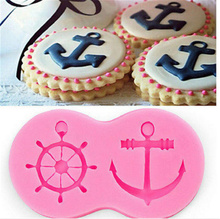 Fondant Cake 3D Decorating Tools Pirate Ship Hook Anchor Cupcake Silicone Mold Chocolate Kitchen Accessories Cookie Tools(China)