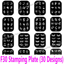Popular wholesale konad stamping nail art buy cheap wholesale f 30 designs 1 piece stainless steel stamping plates transfer print stamping template nail art tools stencil konad diy wholesale prinsesfo Images