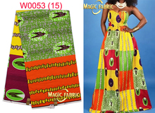 New arrival 100% cotton real african guaranteed dutch print veritable super wax hollandais fabric for cloth    W0053-15