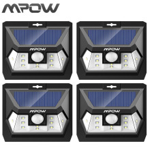 Buy Mpow Mini 10 LED Solar Power Lampion Security Waterproof Outside Wall Panel Lighting Fence Garden Deck Yard LED Night Lamp for $17.58 in AliExpress store