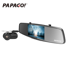 PAPAGO Gosafe 738 Dual Lens Car DVR PPG8031 1440P 5.0 inch Screen 170 Degree Angle rearview mirror Video Recorder(China)