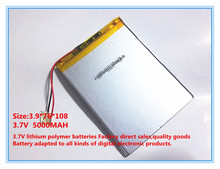 Polymer battery 9 inches tablet battery domestic the built-in rechargeable battery 5000 mah 3976108 free shipping(China)