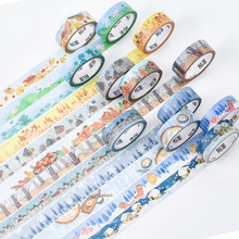 1.5cm*7M NEW ARRIVEL Twenty-Four Solar Terms Washi Tape Adhesive Tape DIY Scrapbooking Sticker Label Masking Tape STATIONERY