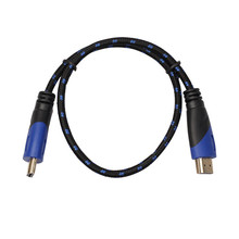 Hot! 0.5/1/1.8/3/5/10/15M New Braided HDMI Cable V1.4 AV HD 3D for PS3 Xbox HDTV Meters 1080P DF Jan10(China)