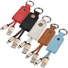 Leather Key Chain Type C Cable For iPhone Charger Cable Power Home Wall Charger Adapter Android Micro USB Charger(China)