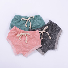 Sun Moon Kids Baby Bloomer Cotton 2017 New Summer Children Fashion Solid Colour Shorts Cotton Casual Newborn Summer Pants(China)
