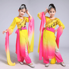 New Fan Dance Clothing Classical Clothes Yangko Dance Costumes National Umbrella Clothes for Child Chinese Folk Dance(China)