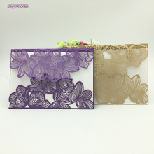 10pcs/set Laser Cut Wedding Invitation Card Wedding Favors And Gifts Wedding Favor Flower Vine Lace Cut Invitation Card