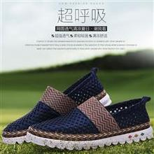 spring and summer new men's low-heeled sets of foot music blessing shoes youth trend breathable mesh shoes men's shoes
