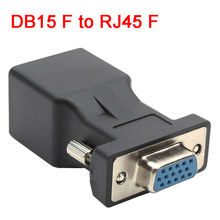 15pin VGA Female to RJ45 Female Connector Card VGA RGB HDB Extender to LAN CAT5e CAT6 RJ45 Network Ethernet Cable Adapter