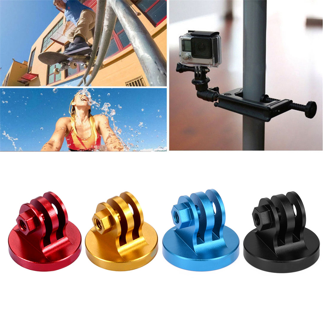 Mayitr 1pc CNC 4 Colors Aluminum Alloy Tripod Mount Lightweight Digital Camera Base Adapter For GoPro Camera