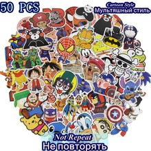 50 Pcs Cartoon Stickers Mixed JDM Style Waterproof Snowboard Luggage Laptop Motorcycle Television Doodle Sticker Accessories