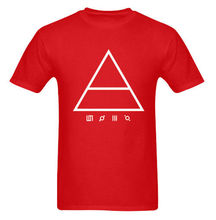 Printed T Shirt 2017 Fashion Brand Gildan Short Sleeve Fashion Hot 30 Seconds To Mars Band Jared Leto  Air Logo Red S M L X