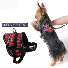 Refective Puppy Dog Service Harness with slogan Pet Puppy Dog Collar Harness Chihuahua Teacup Care S M L Dog Collar Harness