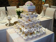 5 Tier Square Cake Stand or Cupcake Stand / Acrylic Square Cake Decoration Wedding Cup Cake Stands