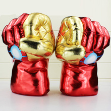 1Pair 30CM New Superhero Iron Man Mark 3 gloves Cosplay Superhero Toys  Children Christmas Gifts Free shipping