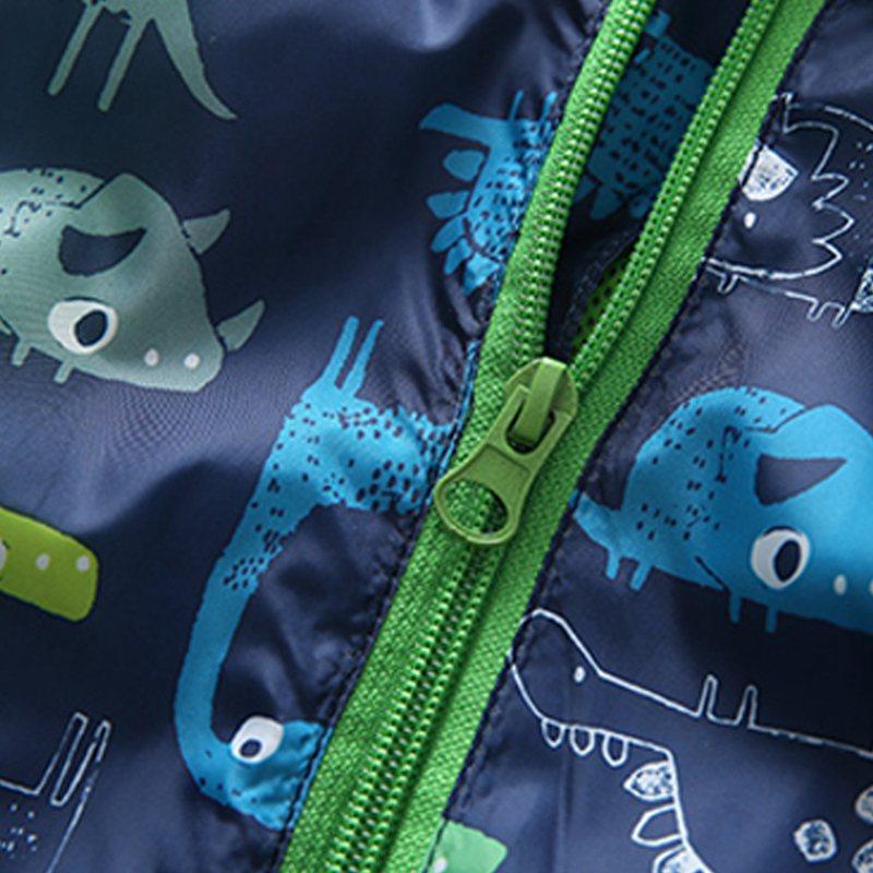 COOTELILI 80-120cm Spring Autumn Dinosaur Windbreaker Kids Jacket Boys Outerwear Coat Hooded Baby Clothing For Boys (8)