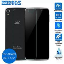 Alcatel One Touch Idol 3 5.5 inch / 4.7 inch Tempered Glass Screen Protector 2.5 9h safety Protective Film on Idol3 6045 / 6039