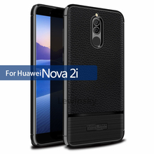 Buy Shockproof Leather design Carbon Fiber Cover Huawei mate 10 lite Protection Case Soft Slim Silicon Nova 2i Anti-Knock Case for $2.99 in AliExpress store