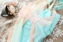 100% Real Photo High Quality Sexy Lolita Kawaii Princess Butterfly Macroon Mesh Lace Babydoll Sleepwear Lingerie RB273(China)